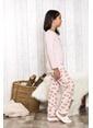 Lingabooms Altın Kelebek Baskılı 2'li Çocuk Pijama Takım  Pembe